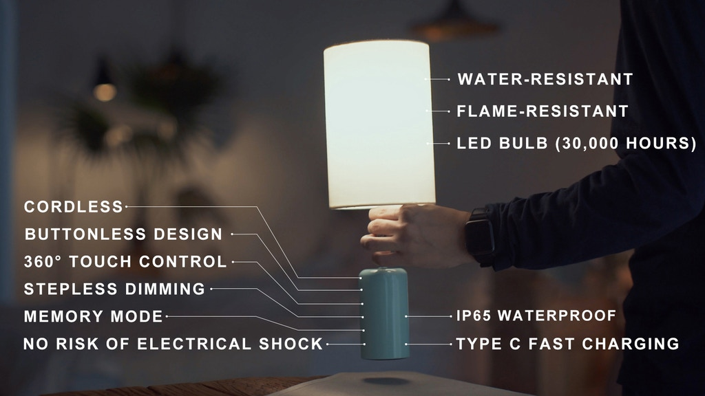 Cuppa: A Cordless LED Touch Lamp with All