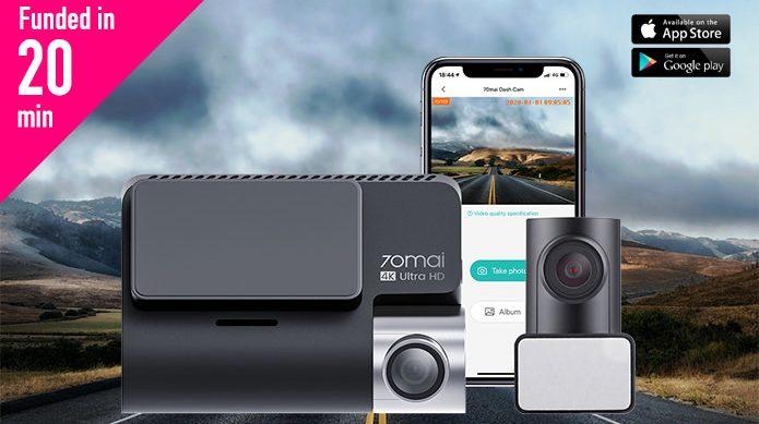70mai A800: Dual-vision 4K Dash Cam for 24h