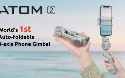 ATOM 2: Auto-foldable 3-axis Phone Gimbal