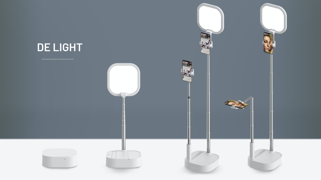 Convertible Streaming Light & Stand Set