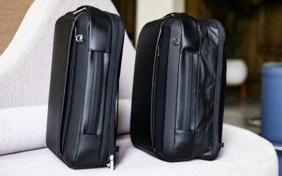 Fingerprint-Locked Trunk + Expandable Backpack