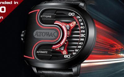 ATOWAK ETTORE: 4-Arm Wandering Hour Watch