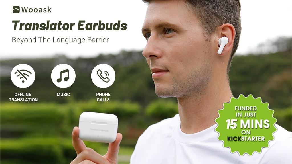 3-in-1 Offline Translation & Bluetooth Earbuds